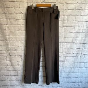 APT. 9 Brown Straight Leg Pants Trousers